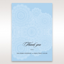 Rustic Lace Pocket thank you stationery card
