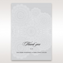 Rustic Lace Pocket thank you stationery card design
