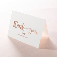 Rustic Lustre thank you card