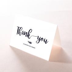 Rustic Lustre wedding thank you card