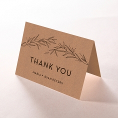 Rustic Oriental wedding thank you stationery card item