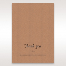 Rustic thank you wedding stationery card item