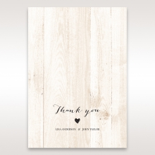 Rustic Woodlands thank you wedding card design