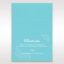 Seaside splendour wedding stationery thank you card