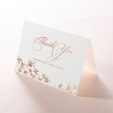 Secret Garden wedding thank you stationery card