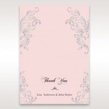 Silvery Charisma thank you wedding stationery card item
