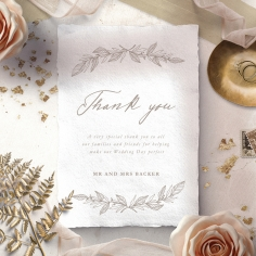 Simple Charm thank you stationery card item