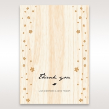 Splendid Laser Cut Scenery wedding stationery thank you card design