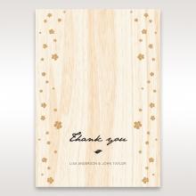 Splendid Laser Cut Scenery wedding stationery thank you card design