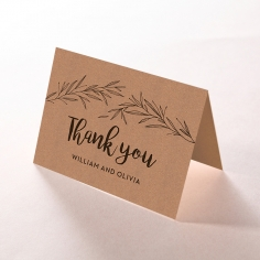 Springtime Love wedding stationery thank you card design