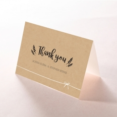 Sweetly Rustic thank you stationery card