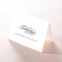 Timeless Romance thank you wedding stationery card