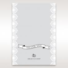 Traditional Romance wedding stationery thank you card item