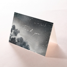 Under the Stars thank you stationery card design