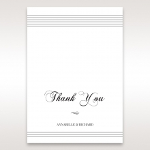 Unique Grey Pocket with Regal Stamp thank you stationery card item