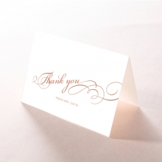 United as One thank you wedding card