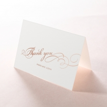 United as One wedding thank you card design