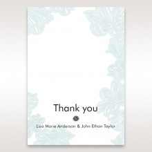 Vibrant Flowers thank you stationery card item