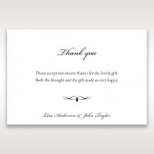 Victorian Charm wedding thank you card