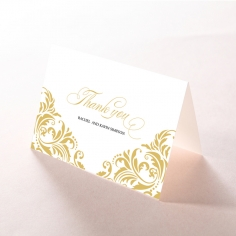 Victorian Extravagance wedding thank you stationery card