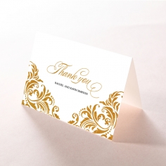 Victorian Extravagance with Foil wedding thank you card design