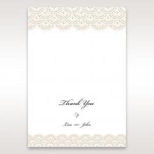 Vintage Lace Frame thank you wedding card design