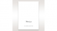Wedded Bliss thank you stationery card item