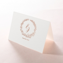 Whimsical Garland wedding thank you stationery card item