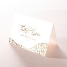 Woven Love Letterpress with foil thank you stationery card