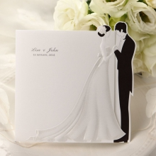 Square shaped invite with embossed design
