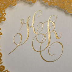 Charming Lace Frame with Foil Invitation