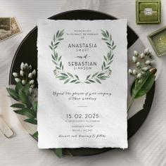 Country Garland Wedding Invitation Card
