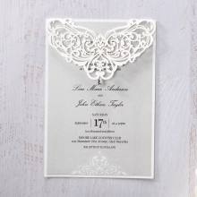 Intricate floral laser cut frame with stunning crystal detail