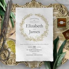 Enchanted Wreath Invitation Card