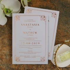 Gatsby Glamour Invitation Card Design