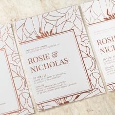 Grand Flora Wedding Invite Card Design