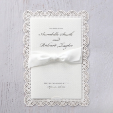 Classic white card with laser cut border trim