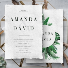 Palm Leaves Wedding Card Design
