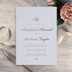 Regal Charm Letterpress Wedding Invitation