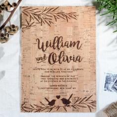 Springtime Love Wedding Invitation