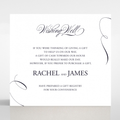 A Polished Affair wishing well enclosure invite card design
