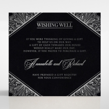 Ace of Spades wedding stationery wishing well invite card design