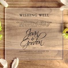 Acrylic Diamond Drapery wedding gift registry invitation