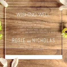 Acrylic Minimalist Love gift registry enclosure stationery invite card design