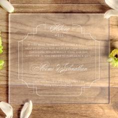 Acrylic Regal Enchantment gift registry enclosure stationery card