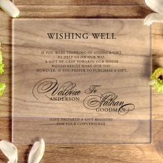 Acrylic Timeless Romance gift registry enclosure stationery invite card