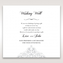 An Elegant Beginning wishing well enclosure stationery card