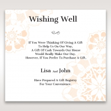 Antique Frame wishing well stationery invite card design
