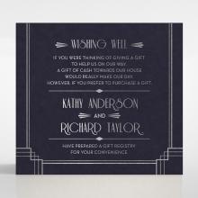 Art Deco Allure wedding gift registry enclosure card