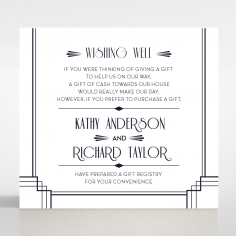 Art Deco Allure wishing well enclosure stationery card
